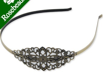 10PCS Oval Headband,Antique Bronze Plated,hair accessories C1708