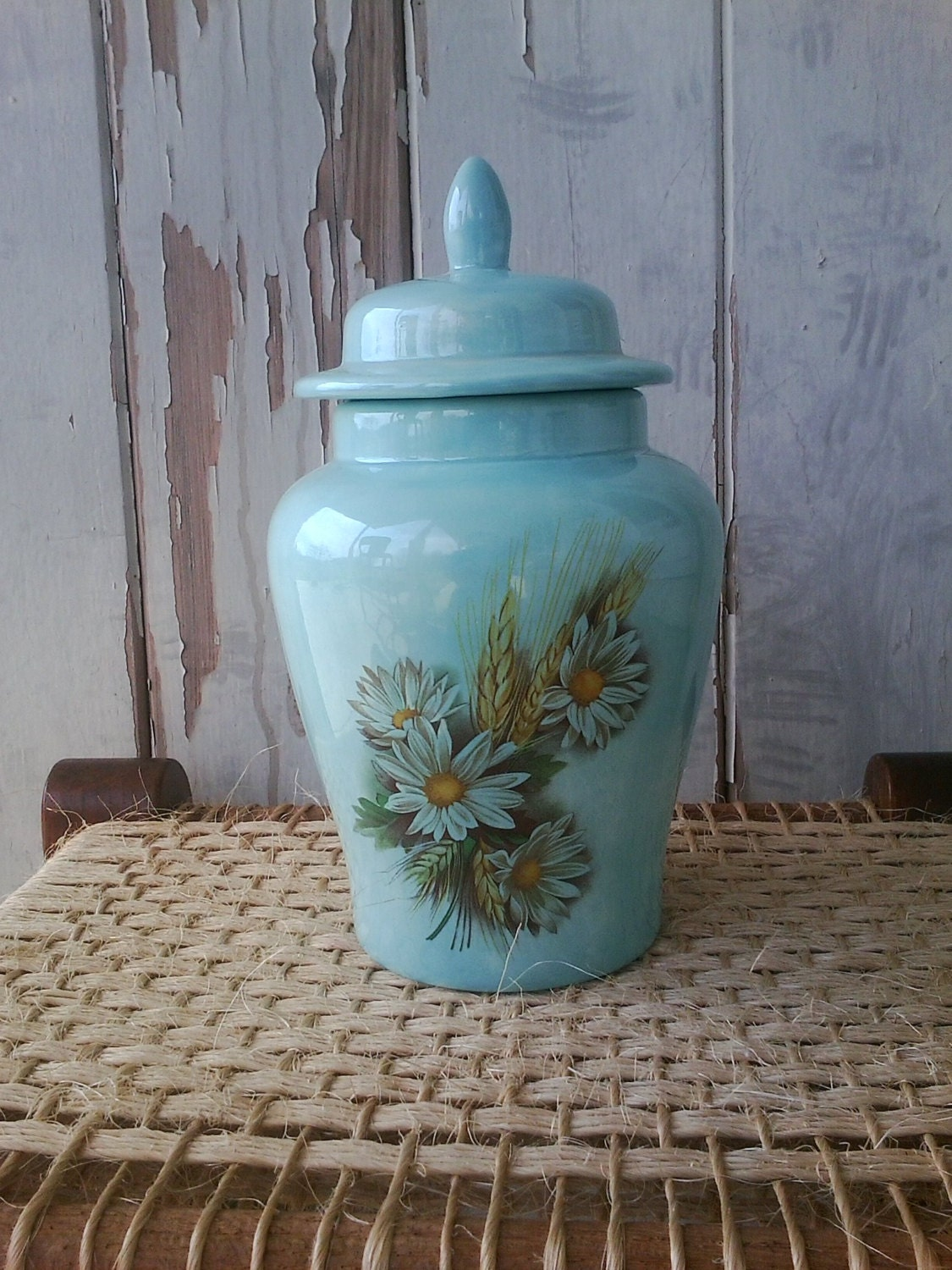 Retro Blue Cookie Jar 1970 39 S Blue Cookie Jar By