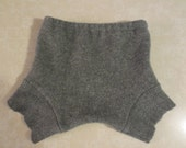 Reserved Listing for Kayla Kledford Gray Recycled Wool Sweater Shorties Soaker Gender Neutral