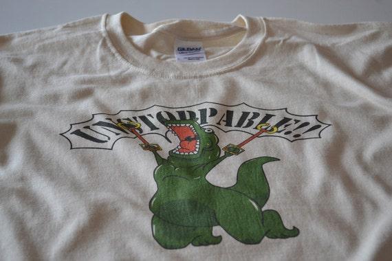 Funny Tshirts for Women - Unstoppable T Rex Dinosaur Shirt - Trex tshirt for Her