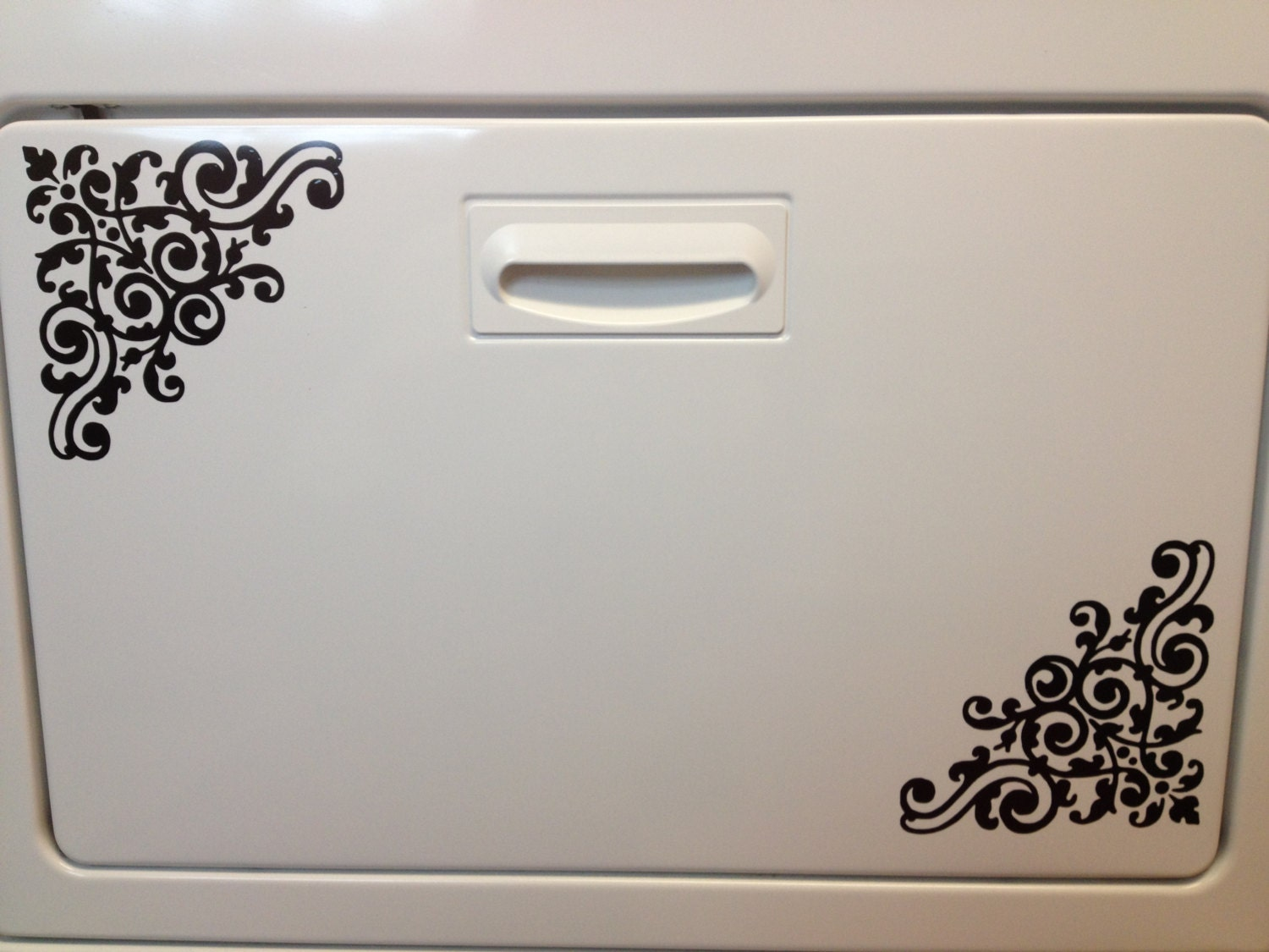 Appliance Art Damask Decal for Kitchen or Other Decor in Size