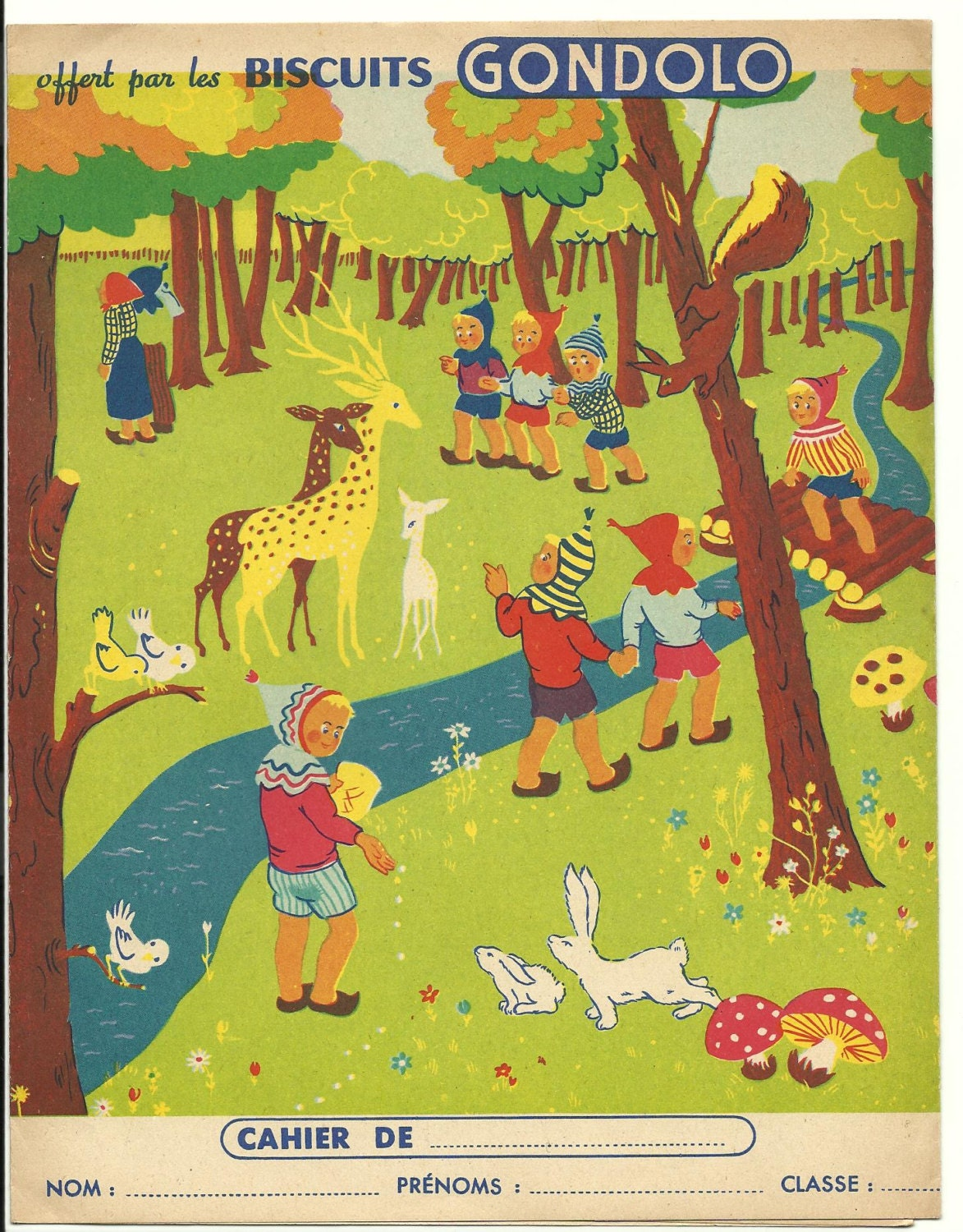 French School Book Cover : French school book cover animal forest nature cute by