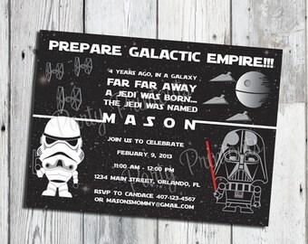 Star Wars Invitation, Printable Star Wars Party Invitations, Star Wars Invitation Download from Email, Star Wars Birthday Invitation Digital