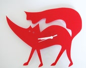 Matthew the Red Fox wall clock
