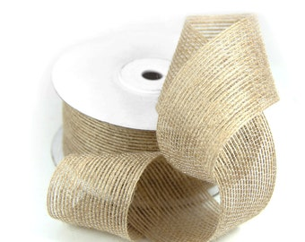"1.5"" x 10 Yards Jute Burlap Trim Ribbon Scrap Booking Craft Gift Wrapping Ideas"