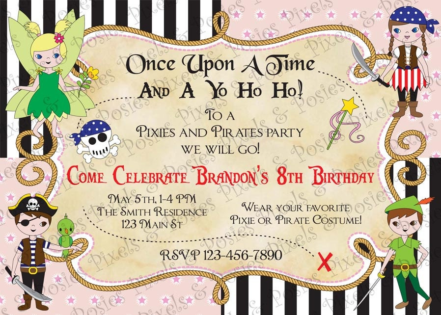 Custom Printable Invitation Print Your Own Pixies and