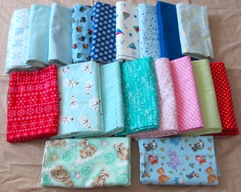 Designer 100% cotton nursery flannel fabrics in beautiful prints and colors for 4.00 a yard