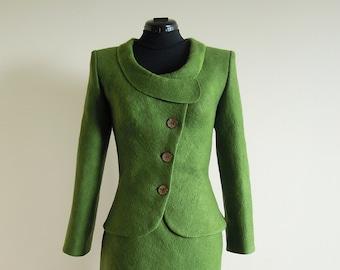 Greenery Felted Jacket for Women - green jacket - wool jacket - spring jacket - felt jacket - greenery jacket