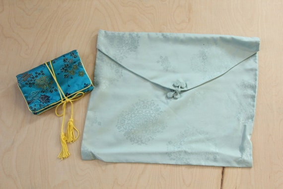 Vintage Oriental Inspired Lingerie Bag and Jewelry Bag
