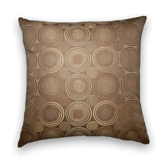 Gold Brown Throw Pillows : Brown Gold Decorative Throw Pillow Cover by CodyandCooperDesigns