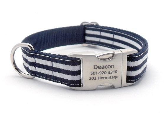 Metal Engraved Buckle Dog Collar Uk