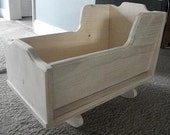 Small crib rocker/cradle for baby dolls