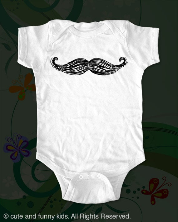 Mustache Design 1 Baby One-piece - graphic printed on Infant Baby One-piece
