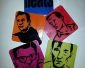 Beat Poets Coaster Set