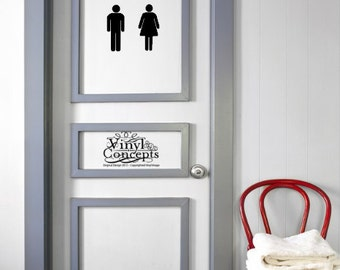 Restroom Man and Woman - Vinyl Wall Art