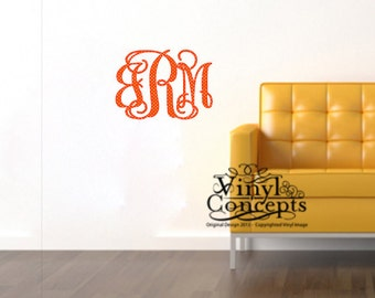 Large Monogram Decal - Specialty Colors Only - Vinyl Wall Art