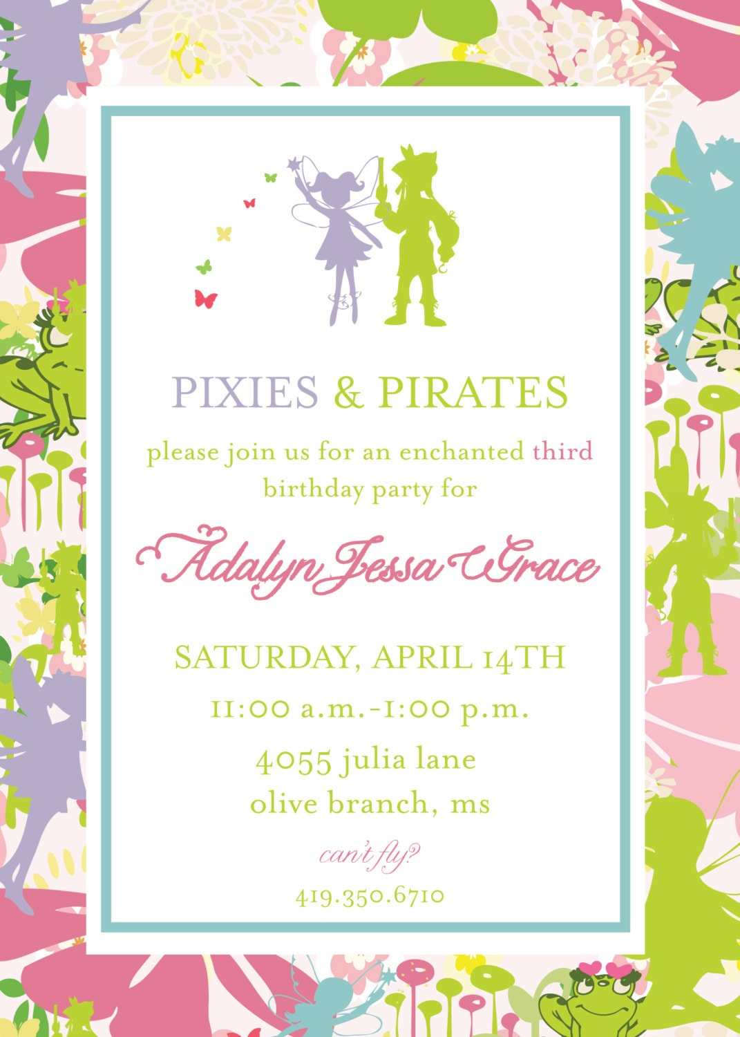 pixie and pirate invitation tinkerbell pixie and pirate invitation tinkerbell 128270zoom