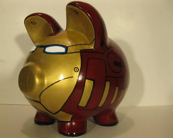 Robot Piggy Bank - Inspired by Ironman - (Unofficial)  - MADE TO ORDER
