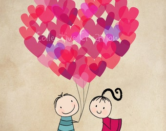 Be My Valentine Digital Clip Art Set - Commercial and Personal Use