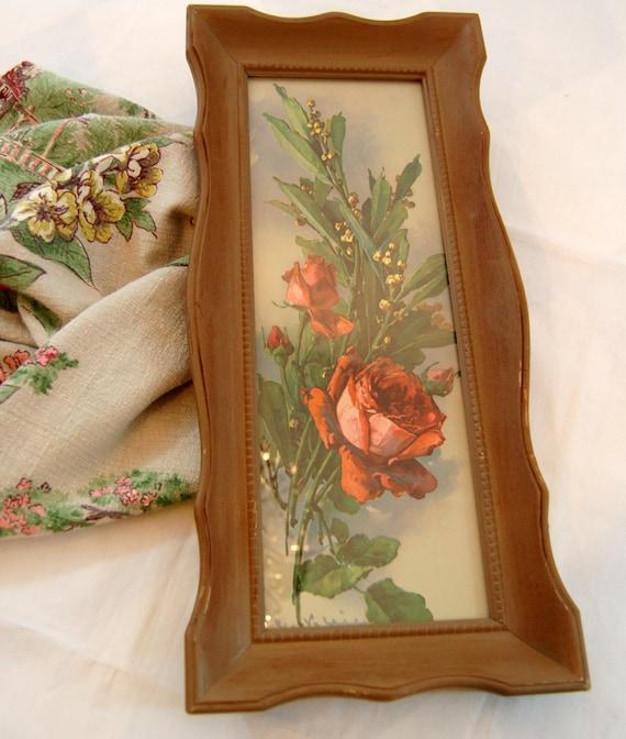 Vintage Framed Floral Print Vintage Signed By