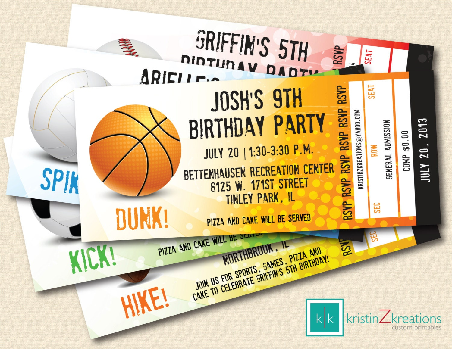 sports ticket invitation template images printable sports ticket