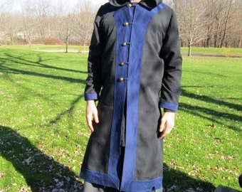 Custom Surcoat Jacket with Long Sleeves and hood medieval renaissance