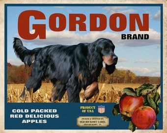 Gordon Setter Small Wooden Crate