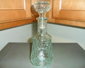 Small Whiskey Decanter/Bottle With Woman Embossed On Front