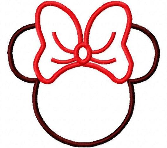 Imagenes de la silueta de Minnie Mouse - Imagui