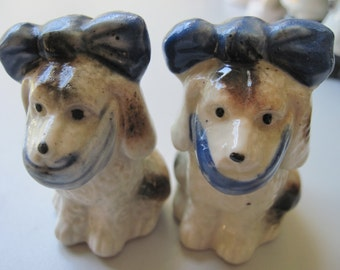 Vintage Toothache Dog Salt and Pepper Shakers Great Just Reduced