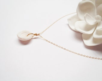 14k Gold Filled Puka Shell Necklace Made in Hawaii