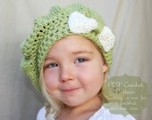 Crochet Pattern: The Eliza Tam -Toddler, Child, & Adult Sizes- Bow Slouchy Hat