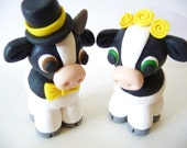 Cow Wedding Cake Topper - Choose Your Colors