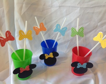 Minnie Mouse Birthday Party Drinking Straws 10 count