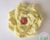 Crochet Flower Brooch (3 Sizes and 4 Variations) - PDF Pattern (Digital Download)