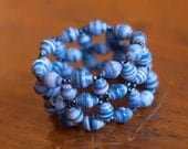 Dreaming of Blue Skies Stretch Woven Bracelet - Support Adoption