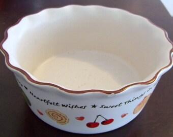 Vintage Ceramic Decorative Kitchen Bowl with Sweet Sayings