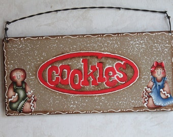 Gingerbread Cookies Kitchen Sign.....Metal...Ginger Collector....Kitchen Decor..Housewarming Gift..Ginger Kitchen