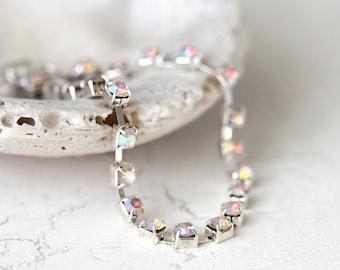 Diamanté Rhinestone Sparkle Bracelet with Magnetic Clasp. A Simple, Elegant, Statement Bracelet