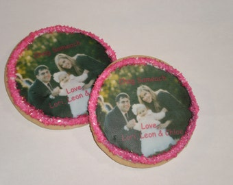 "Personalized Picture Cookies 3 1/4"" round or square cookie - 1 Dozen"