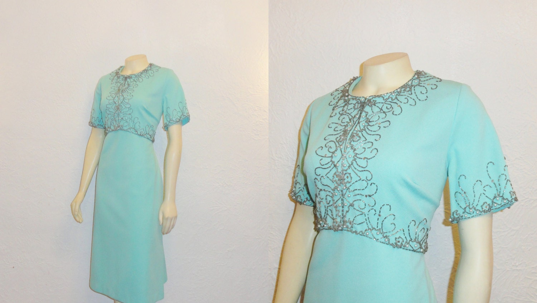 SALE Vintage Dress 50s 60s Mad Men Era By 2sweet4wordsVintage