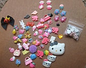 Kawaii Cabochon Destash owls HK kitty Barbie food candy