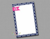 Personalized Notepads - Preppy Navy
