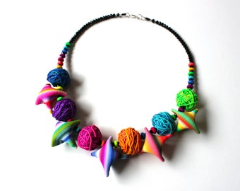 Polymer Necklace Clothes and Skeins