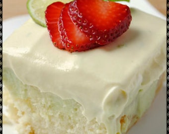 Keylime Poke Cake Recipe~~~Instant Download