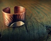 A New Day - Copper and Sterling Silver Sunrise Sunset Ring