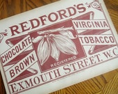 Redfords Chocolate Brown Tobacco advertising wrapper London