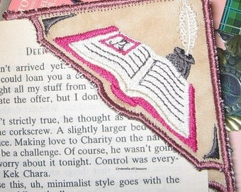 Corner Bookmark Writer's Embroidered