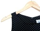 Vintage Little Black Dress with Polka Dots