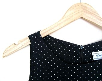 Vintage Little Black Dress with Polka Dots